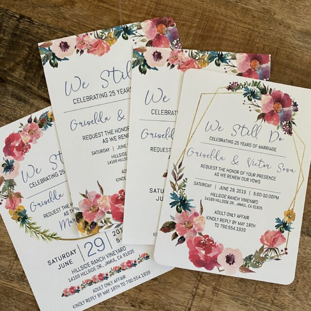 Vow Renewal Celebration Invitations