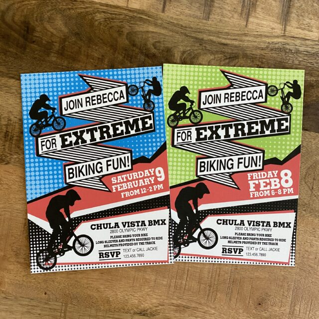 BMX Graphic Party Invitations