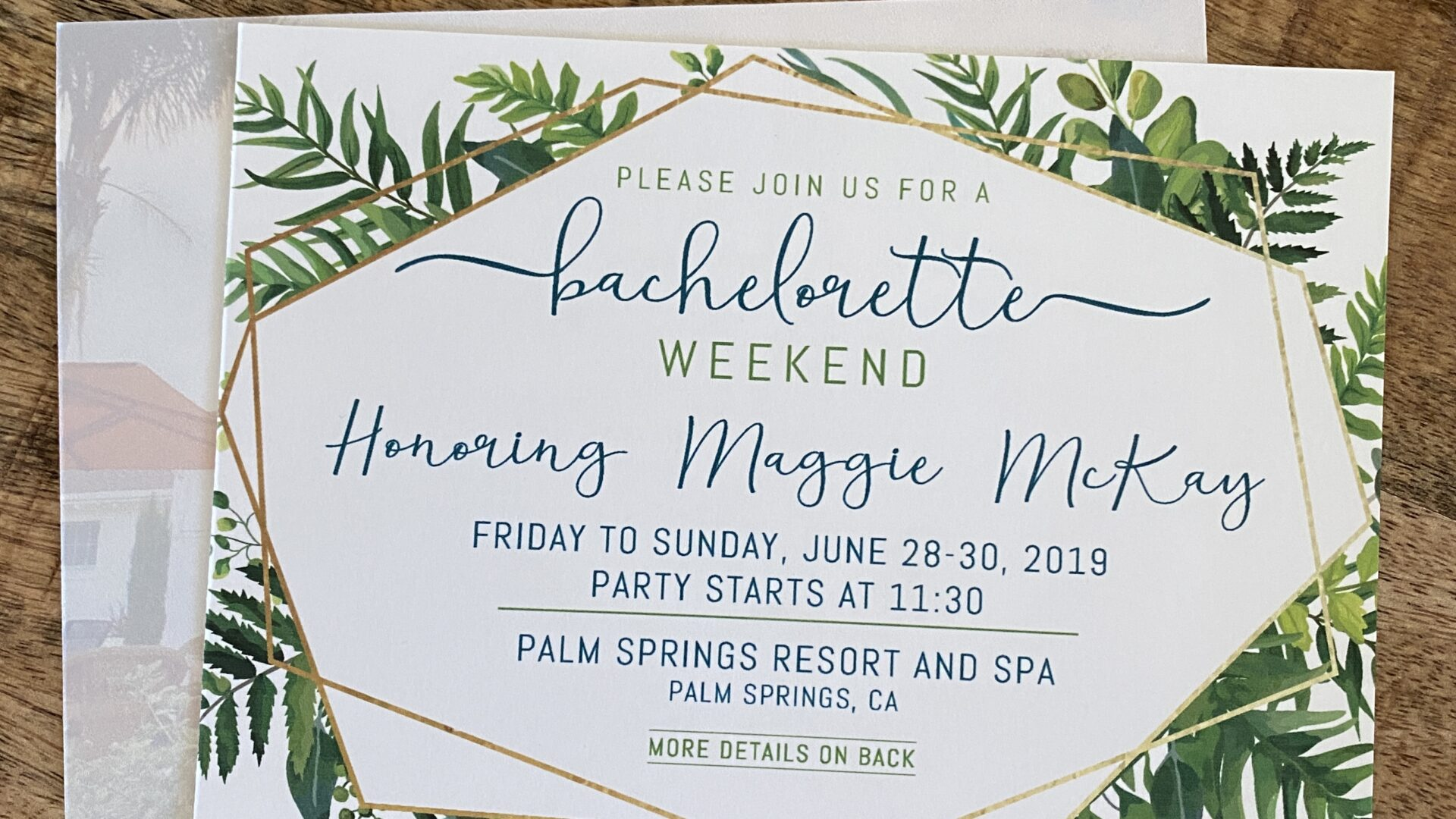 Bachelorette Weekend Invitations and Weekend Events