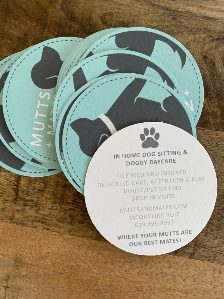Dog Sitting Business Cards