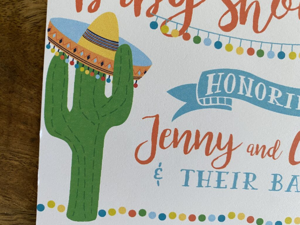 Fiesta Party Invitations and Thank You Cards