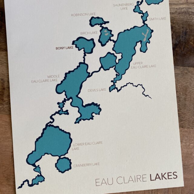 Lake Map keepsake