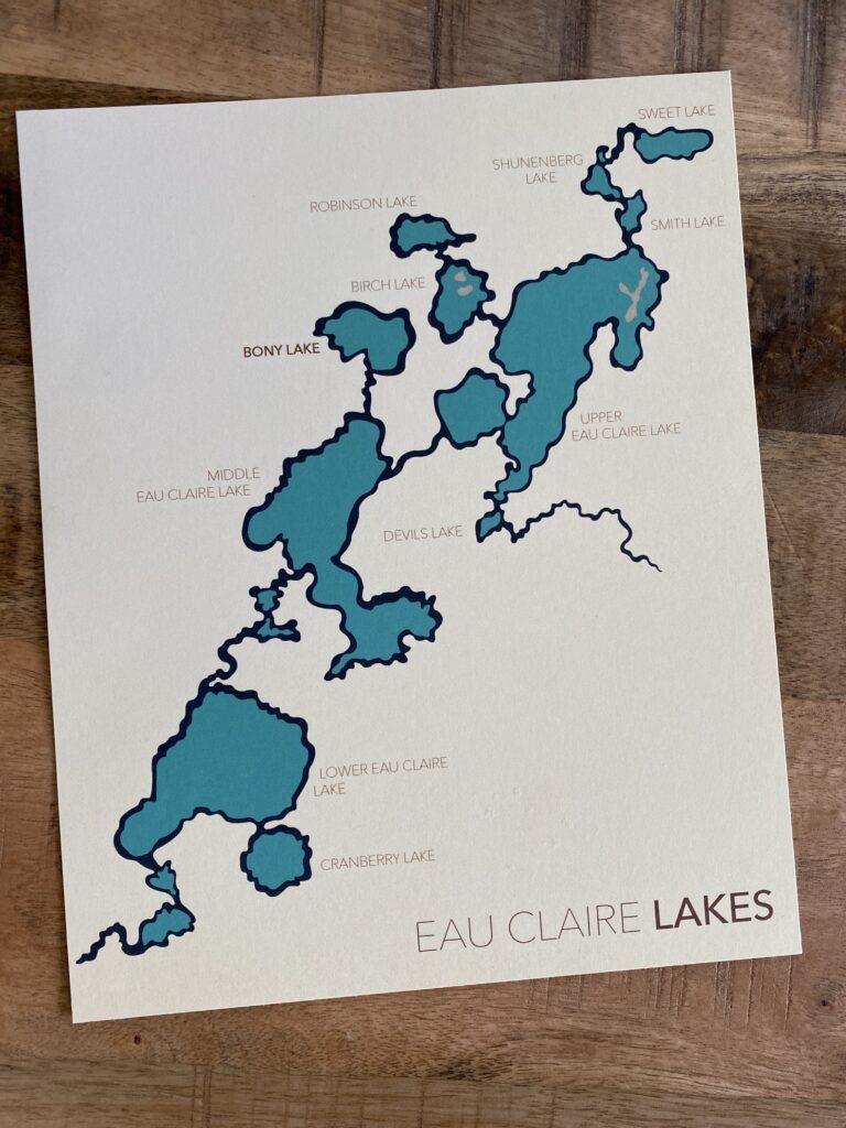 Lake Map keepsake
