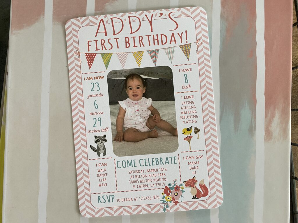 Woodland Girl Birthday Invitation
