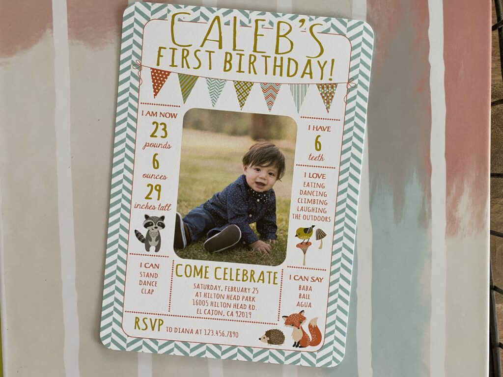 Woodland Boy Birthday Invitation
